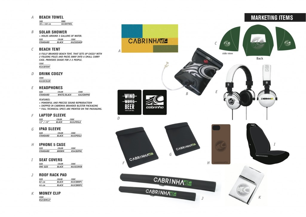 Cabrinha 2014 Marketing Items