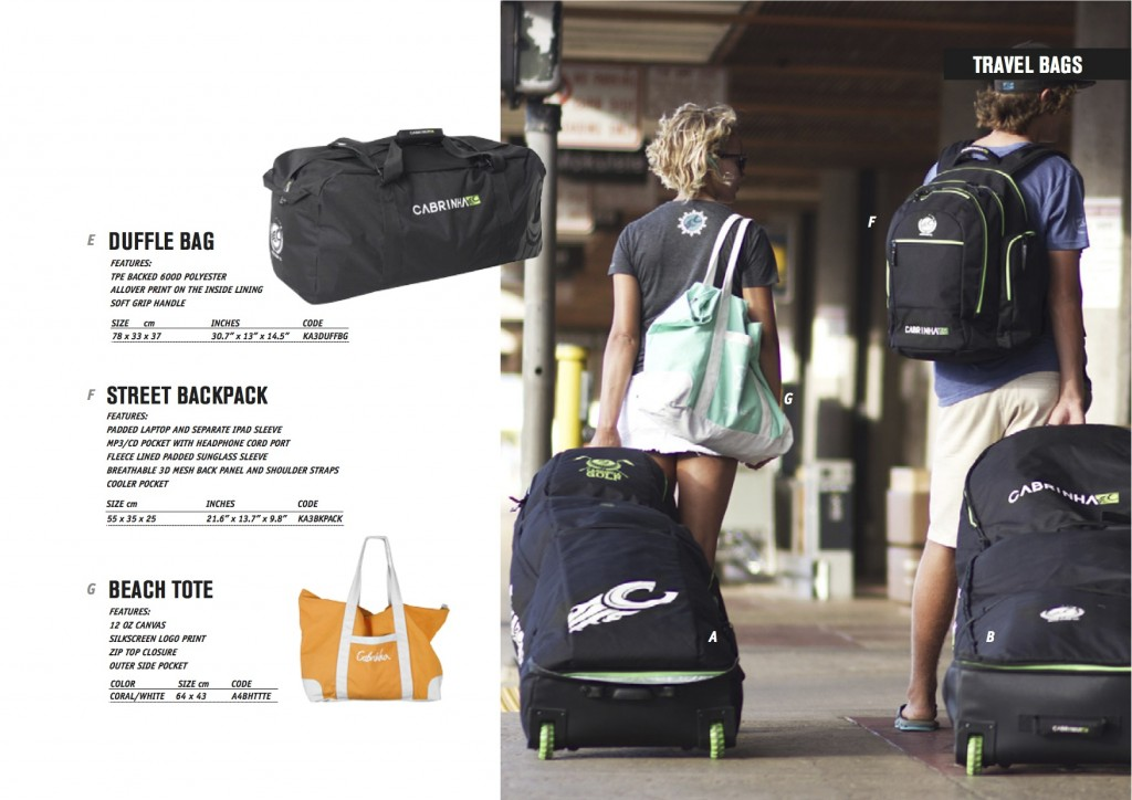Cabrinha 2014 Travel Bags Page 2