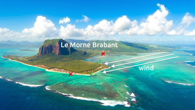 Wind in Le Morne
