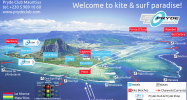 (English) Ultimate kite & surf map of Le Morne