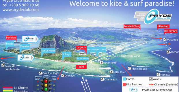 Ultime carte de kite et surf de Le Morne