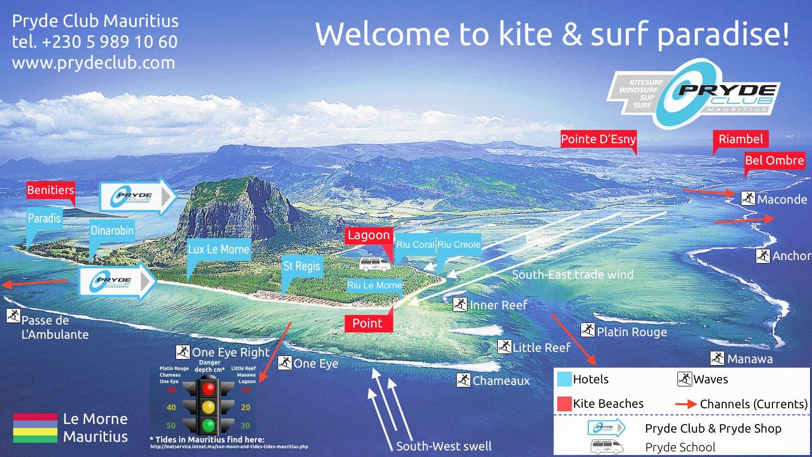 Surf Karte.Ultimative Kite Surf Karte Von Le Morne Prydeclub Com